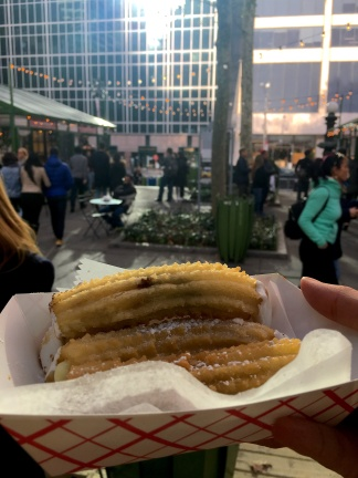 Must-Try Bites at Bryant Park's Winter Village | A Great Big Hunk of World | www.agreatbighunkofworld.com | Holidays in NYC