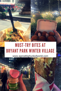 Must-Try Bites at Bryant Park's Winter Village | A Great Big Hunk of World | www.agreatbighunkofworld.com | Christmas in NYC