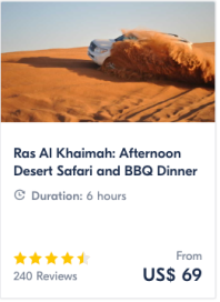 Get Your Guide: Ras Al Khaimah: Afternoon Desert Safari and BBQ Dinner | www.agreatbighunkofworld.com