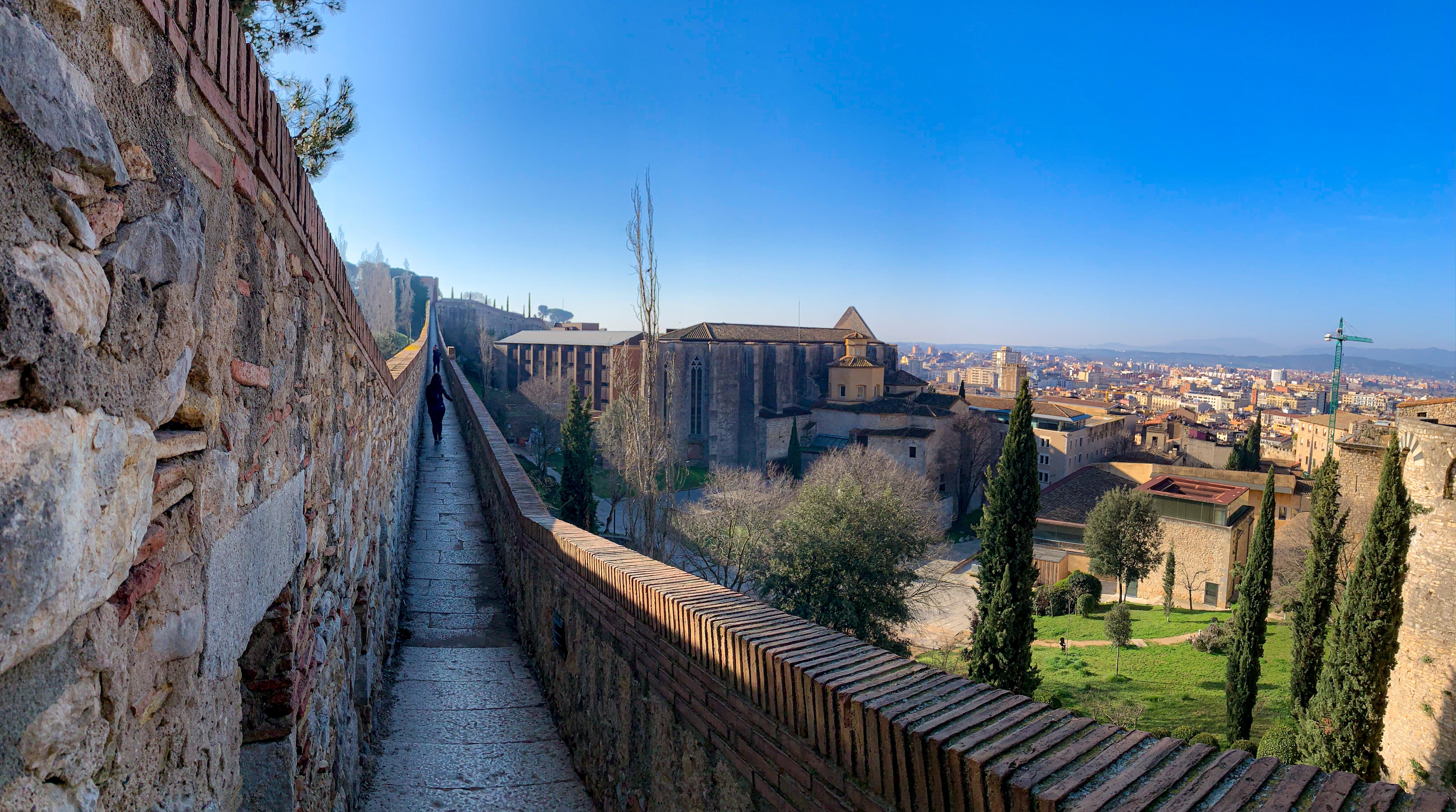 Girona: One Historic Day in Catalonia, Spain | Day Trips from Barcelona | A Great Big Hunk of World | www.agreatbighunkofworld.com |  Passeig de la Muralla | Girona City Walls