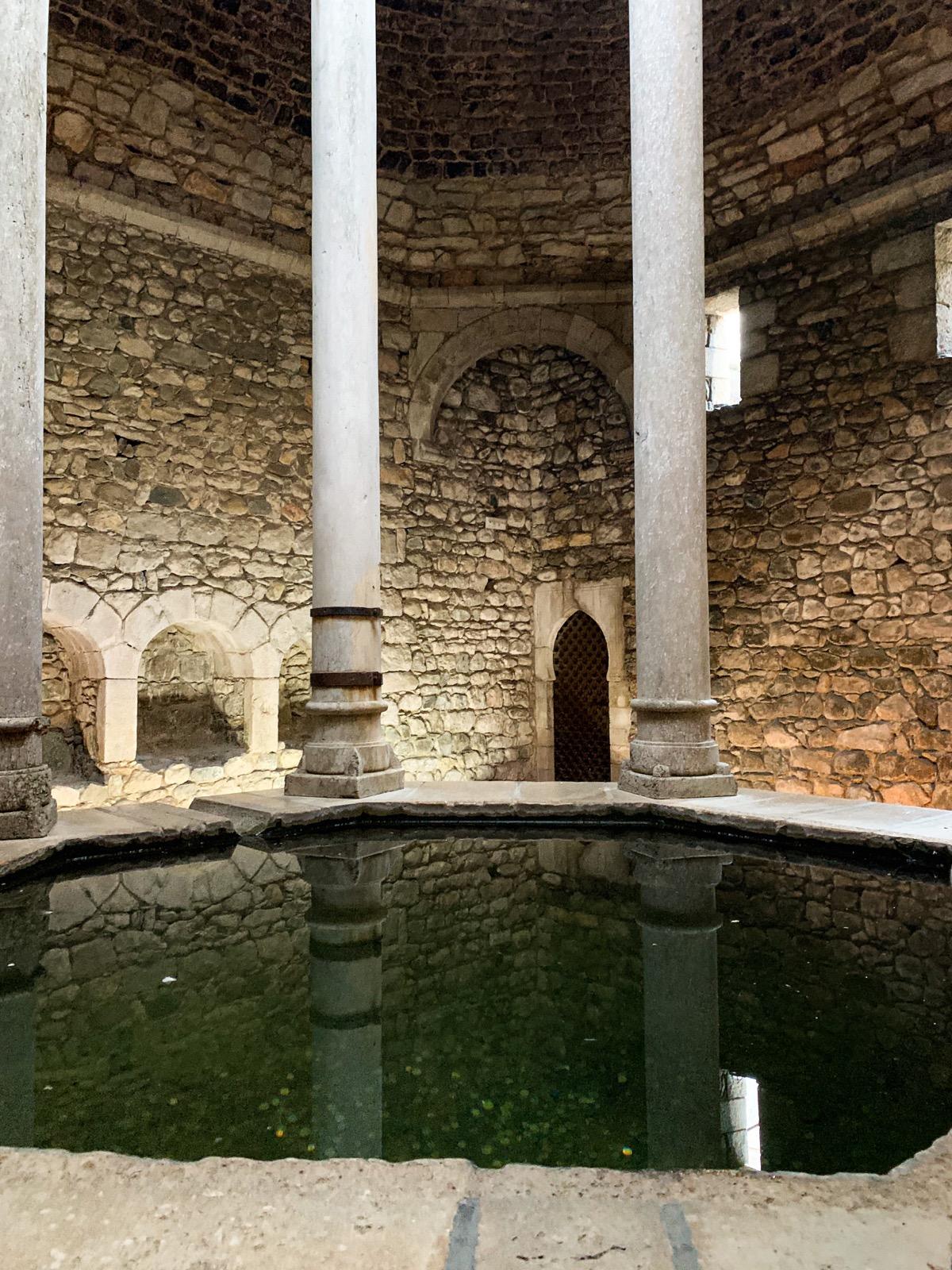 Girona: One Historic Day in Catalonia, Spain | Day Trips from Barcelona | A Great Big Hunk of World | www.agreatbighunkofworld.com |  Arab Baths
